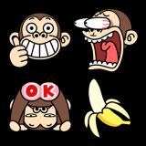 イラッとお猿さん★動く絵文字